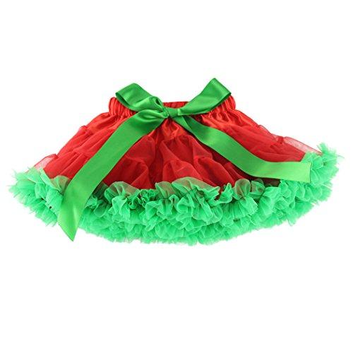Christmas Tutu - Wennikids Little Girl's Dance Chiffon Pettiskirts Tutu Assorted Size and Color XX-Large Christmas Red