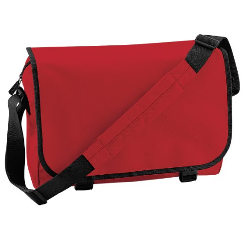 (Bagbase Adjustable Messenger Bag (11 Liters) (One Size) (Classic Red) )