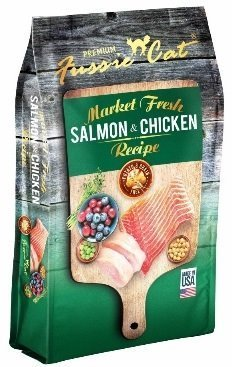 Fussie Cat Dry Cat Market Fresh Salmon/Chicken Formula 10 Pound Bag. Fast Delivery, by Just Jak's Pet Market