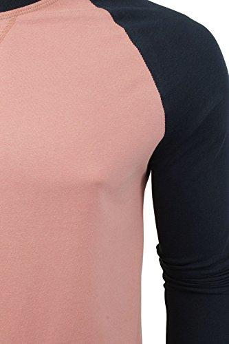 Mens Maniche lunghe T-shirt da un'anima coraggiosa (Winter Pink/ Navy) M