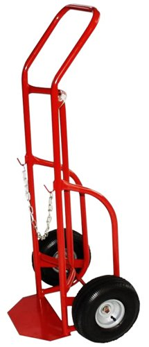 Milwaukee (40764) Hand Trucks Delivery Cylinder Truck with Gas Cylinder, 800 LB Load Rating, 47H x 22W x 17D - ()