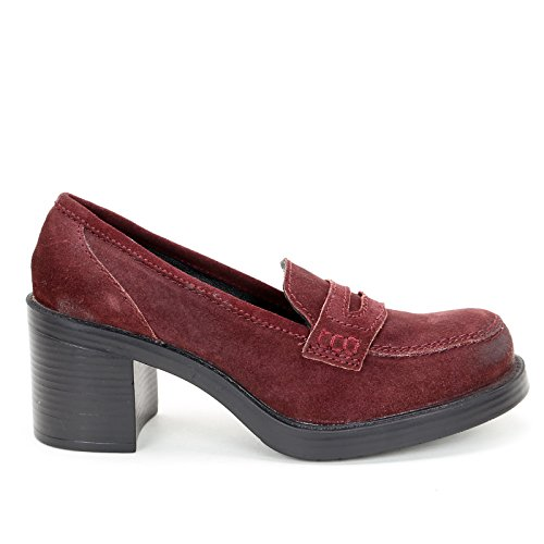 Alesya Scarpe&Scarpe - Moccasins, In, Heel height 7 cm Burgundy