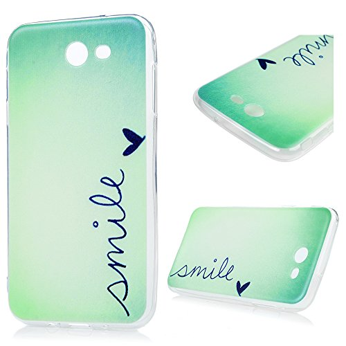 Galaxy J7 V J7V Case, Shock Resistant Flexible Soft TPU Bumper Back Shell Kawaii Colorful Painting Dropproof Ultra-Thin Slim Lightweight Rubber Silicone Gel Skin Cover for Samsung Galaxy J7 Smile