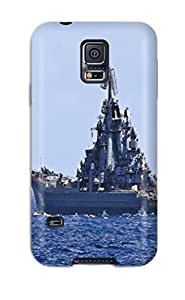 Tpu Fashionable Design Russia Navy Warship Ship War Star Peter Velikiy Admiral-chabanenko Rugged Case Cover For Galaxy S5 New