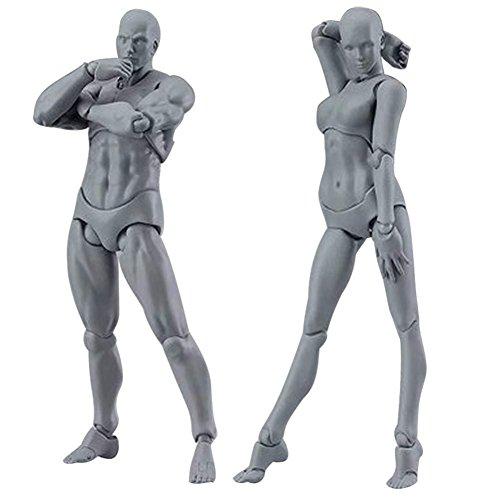 Miraise 2.0 Body Archetype Male Female PVC Body Chan - Kun DX Set Movable Action Figure Model For SHF (Gray male+female) Action Figure Model