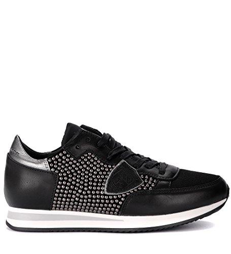 Sneaker Clavos Negra Micro Philippe Negro Con Piel Tropez De Model Cwr8q6C
