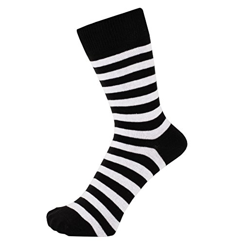 ZAKIRA Finest Combed Cotton Striped Dress Socks for