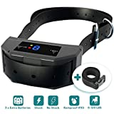 ELZU.US 43396-266133 The Best Industries Bark Collar Upgraded Microprocessor Barking Detection Best No Bark Device with 3 Extra Batteries Beep, Black