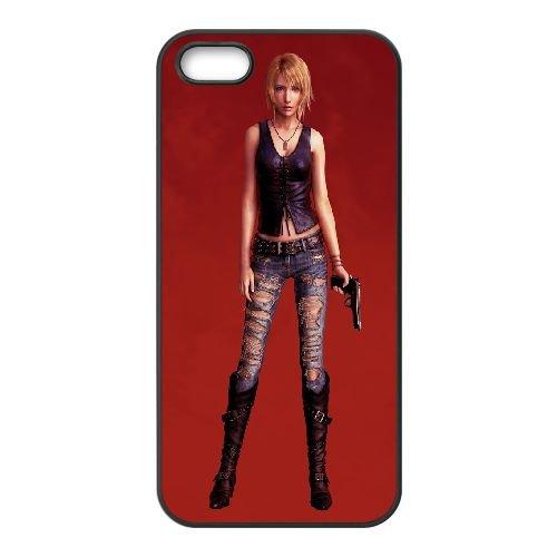 Aya Brea Parasite Eve 3 coque iPhone 5 5S Housse téléphone Noir de couverture de cas coque EBDOBCKCO11909