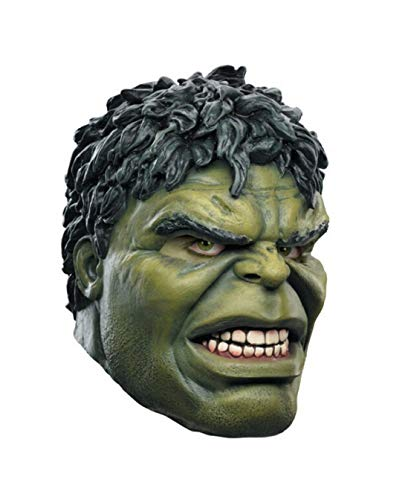 WitHelper The Green Giant Man Halloween Latex Mask ()