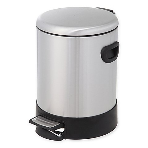 Testrite Round 5-Liter Stainless Steel Step Trash Bin