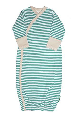 Parade Organics Kimono Gowns - Signature Prints Stripes - Sea Green 0-3 ()