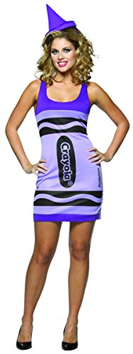 Rasta Imposta Crayola Tank Dress Costume, Wisteria, Adult 4-10