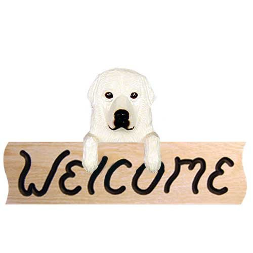 Michael Park Great Pyrenees Welcome Sign (Great Pyrenees Welcome Sign)