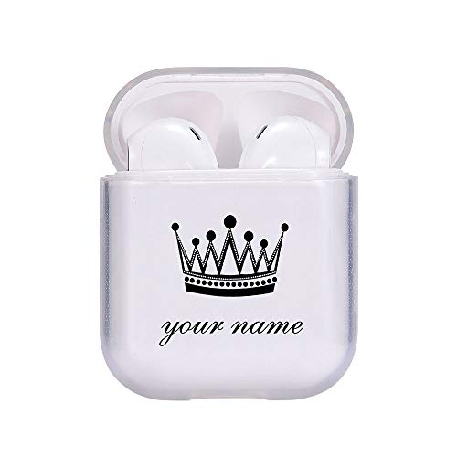 MAYCARI Personalized Airpods Case, Crown Custom Name Airpods Case, Personalized Earbuds Cover, Transparent Clear Case…
