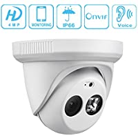 Unitech IP PoE Security Camera Dome Full HD 1080p 4MP Support IR Night Vision Outdoor/Indoor ONVIF Motion Detection Built-in mic 3.6mm Lens