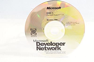 Microsoft Developer Network Visual J++ 1.0-Disc #5 Part Number: 93335-Date: October 1996-PC Computer Software Program-Single Replacement Disc