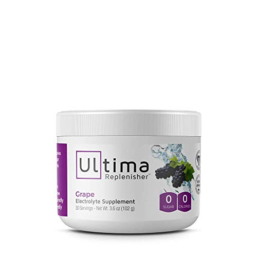55 Active Plus Multivitamin - Ultima Replenisher, Electrolyte Powder Grape Small, 3.6 Ounce