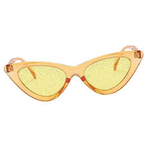 Playa de Lente púrpura Vintaje Libre de Viaje Deporte Sol Mujer Gafa para Gato UV400 Lente amarillo Aire Protección marco amarilla Homyl de al Ojos con púrpura marco wn1q7UnfI