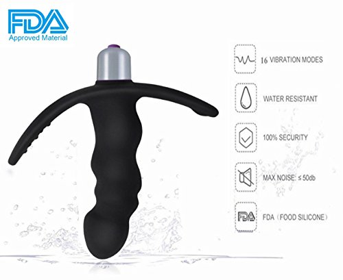 Cordless Electric Massager for Male 16 Stimulation Modes Silicone Waterproof Personal Electric Vibrating Massager for Men, Women and Couple– Handheld Travel Friendly by Cupider