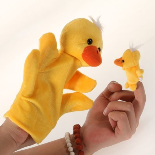 Dcolor Pato de la mano dedo de la marioneta color amarillo