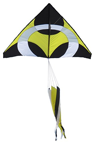 12'6' Runner (Giant Delta Ring iKite Delta Shape Premium Large Kite (Yellow) 6FT Wide)