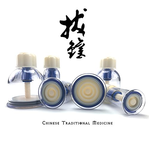 The New Generation of Hand Twist Cupping Therapy Set, Biomagnetic Chinese Body Therapy & English Manual, Enhancer Enlarger Vacuum and Thickened Professional Kit (6pcs Kit)