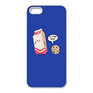 Vety Milk and Cookie Cases for IPhone 5,5S Mens Designer, Iphone 5s Cases for Teen Girls for Guys Design with White