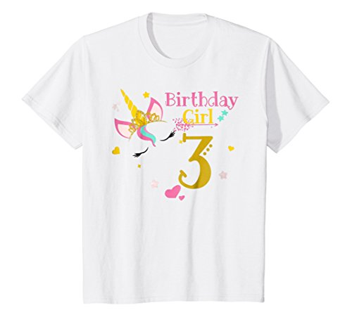 Kids Unicorn 3rd Birthday Shirt Girl T 3 Yrs