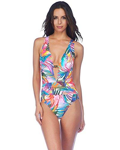 Ralph Lauren Lauren Womens One Piece Swimsuit Tropic Palm Halter 8