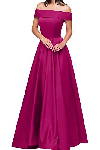 Pink Partykleider Satin A Braut Rock Linie Abendkleider Langes Damen La Kurzarm Marie Kleider Jugendweihe wzqHO