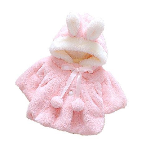 [Jspoir Melodiz Baby Girl Fur Winter Warm Coat Cloak Jacket Thick Warm Clothes] (Faux Chain Hooded Costumes)