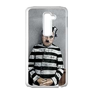 Charlie Chaplin 001 LG G2 Cell Phone Case White TPU Phone Case RV_656696