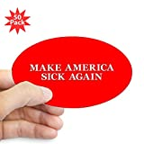 CafePress - Trumpcare Make America Sick A - Sticker (Oval 50 pk)