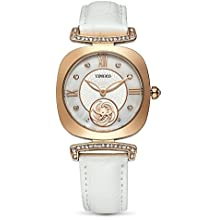 Time100 Women Watches Bracelet Alloy Plating Case Leather Band Buckle Button Watches Wrist Watches