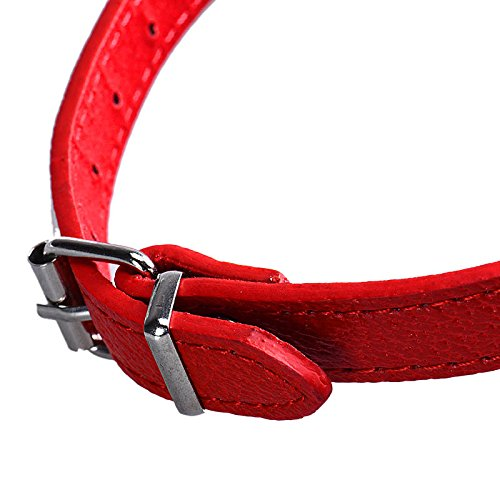 Hpapadks Collar Neckerchief Adjustable Pet Dog Puppy Cat Neck Scarf Bandana Collar M (M, Red)
