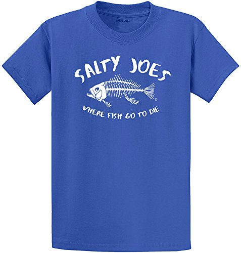 Salty Joe's Where Fish Go To Die Heavyweight Cotton - Usa Shop Where In To