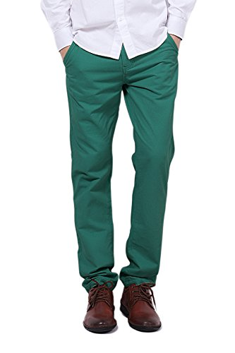 Pau1Hami1ton PH-03 Mens Flat-Front Casua - Green Khaki Pants Shopping Results