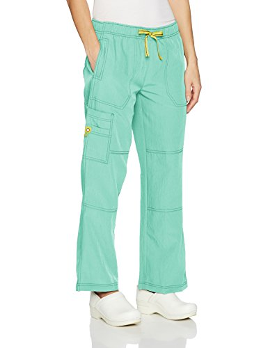 WonderWink Women's Sporty Cargo Pant, Aruba Blue, SM - Aruba Blue Apparel