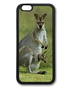 NADIA DAOJIE Generic Lilyshouse Kangaroo 005 Hard plastic shell Shell with Black Edges Cover Case for Iphone 6 plus 5.5 inch
