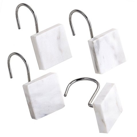 Curtain Hooks Crafted Of Genuine Marble Set of 12