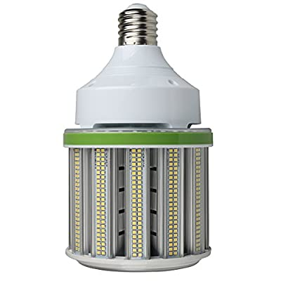 LED Corn Light Bulb, Post Top LED Light Bulb With Replaceable Lamp Base(Mogul E39+Medium E26), Retrofit LED for High Bay Warehouse Canopy Shop Mall