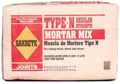 - SAKRETE of North America 65300039 Type N Mortar Mix, 40 lb