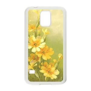 linJUN FENGVintage Flower Watercolor DIY Cover Case for SamSung Galaxy S5 I9600,personalized phone case ygtg585788