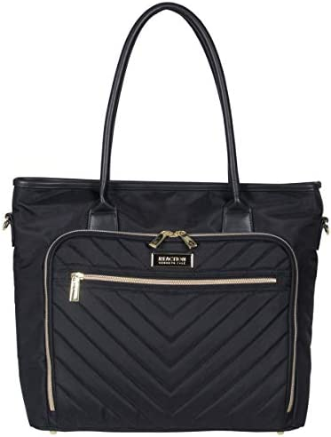 "Kenneth Cole Reaction Chevron 15"" Laptop & Tablet Business Tote with Removable Shoulder Strap"