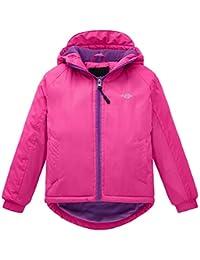Wantdo Girl's Hooded Spring Jacket Windproof Fleece Ski Jacket