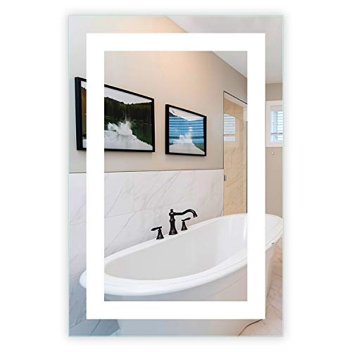 LED Front-Lighted Bathroom Vanity Mirror: 24