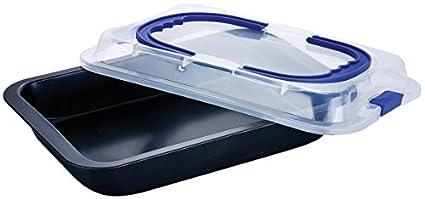 Molde Bandeja de horno con tapa para transporte (42 x 29 cm