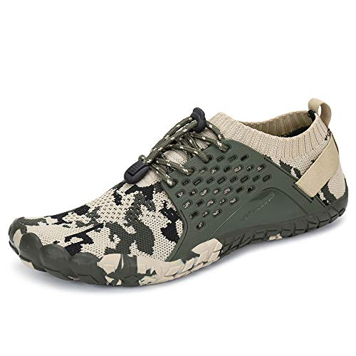 - Oberm Womens Trail Running Shoes Outdoor Mininalist Barefoot Shoes Wide Toe Box for Gym Walking Hiking Black/Green