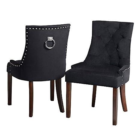 Sedie Cucina Torino.My Furniture Torino Velluto Nero Sedia Da Pranzo Tappezzata